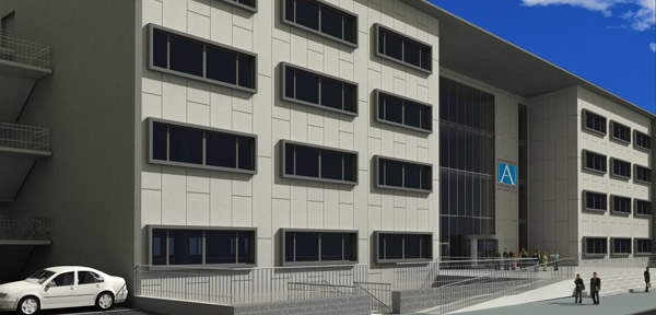 La obra del edificio de la Universidad Europea del Atlántico avanza a buen ritmo