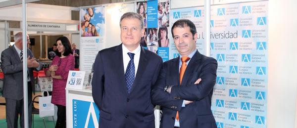 El rector acudió el viernes a la inauguración de la III Feria de Municipios de Cantabria