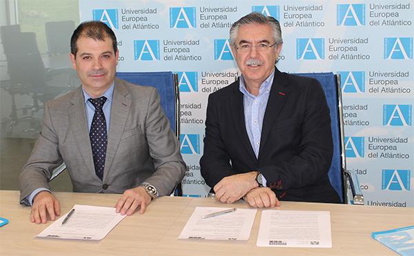 La Universidad Europea del Atlántico firma un convenio de colaboración con el Club Deportivo El Jardín