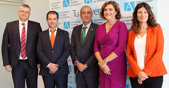La Universidad Europea del Atlántico firma un convenio de colaboración con el Colegio de Economistas de Cantabria