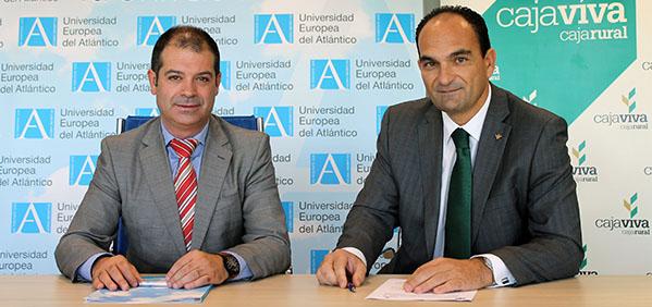 UNEATLANTICO firma convenio de prácticas con Caja Viva