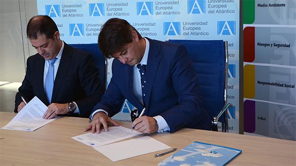 UNEATLANTICO firma un convenio de colaboración con la Asociación Española de Normalización y Certificación (AENOR)