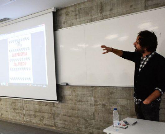 Marc González durante su clase magistral en UNEATLANTICO