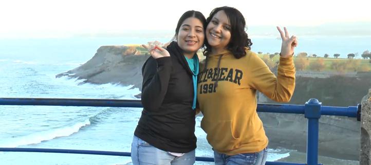 Ruth y Jessica, estudiantes de El Salvador, destacan la amabilidad de los cántabros y la formación de UNEATLANTICO