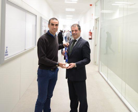 Antonio Bores y Rubén Calderón con la medalla de oro