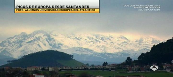 Antena 3 publica una foto de las montañas nevadas tomada por alumnos de Comunicación Audiovisual