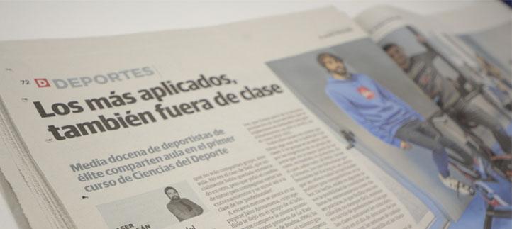 El Diario Montañés dedica un reportaje de dos páginas a los deportistas de élite que estudian en UNEATLANTICO