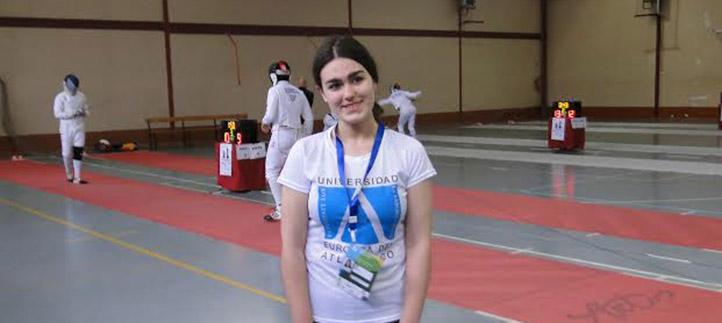 La estudiante Lucía Uriel representó a UNEATLANTICO en los Campeonatos de España universitarios de esgrima