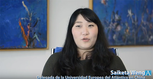 La delegada de la Universidad Europea del Atlántico en China visita Santander