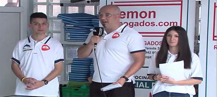 Cuatro estudiantes participaron en la retransmisión del Open de natación a través del canal Vegavisión