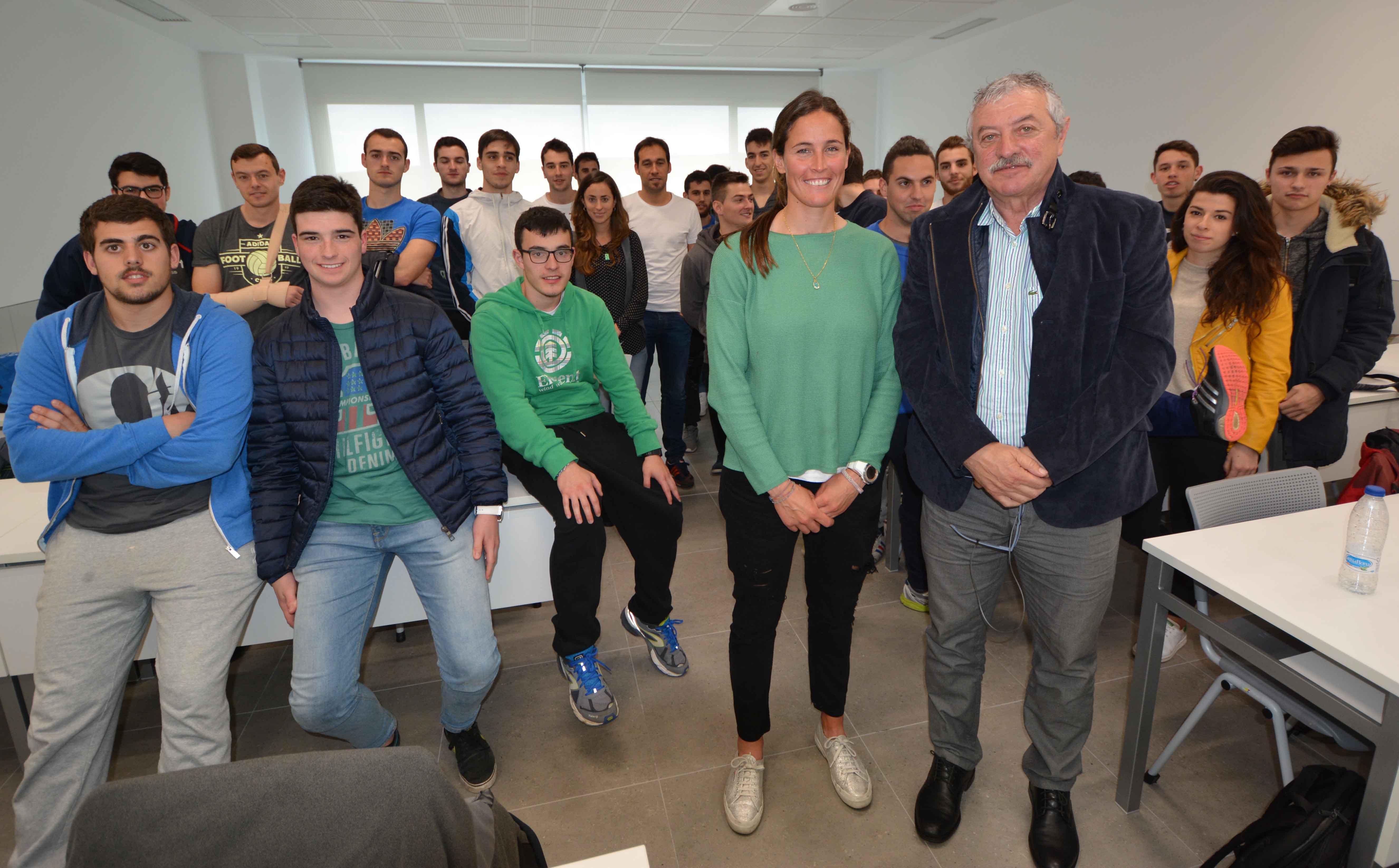 Berta Betanzos y Ramón Torralbo impartieron una charla sobre la preparación olímpica en el campus