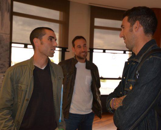 Josef Ajram junto Antonio Bores y Javier Costas de la Universidad Europea del Atlántico