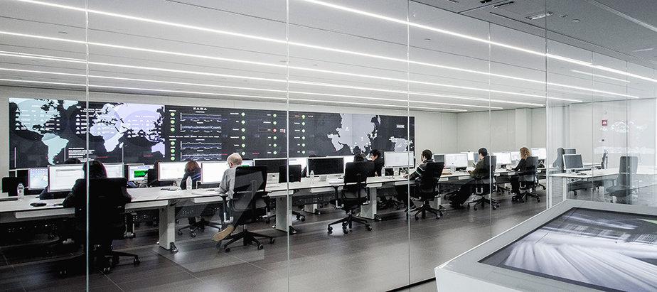 Imagen del 'data center' de reciente construcción, conectado al centro neurálgico de Arteixo.