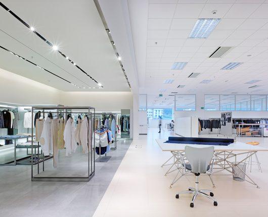 Oficinas de la compañía textil en A Coruña.