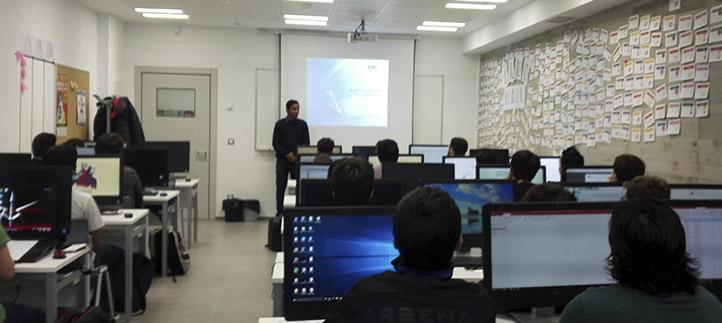 Los estudiantes de la Escuela Politécnica conocieron el proyecto de becas Marie Curie sobre redes de innovación