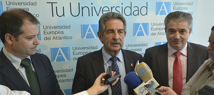 La visita del Presidente de Cantabria a la Universidad Europea del Atlántico minuto a minuto