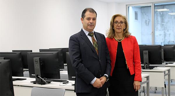 La directora de la UNED en Cantabria, Ana Martín, visita el campus y estudia con el rector diferentes vías de colaboración