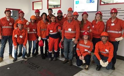 Estudiantes del grado en Ingeniería de Organización Industrial visitan la empresa Global Steel Wire en Nueva Montaña