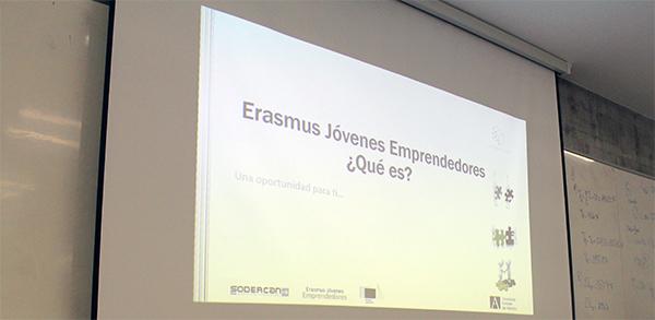 Charla sobre Erasmus Jóvenes Emprendedores en UNEATLANTICO