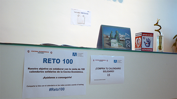 Reto 100: venta de calendarios solidarios de la Cocina Económica