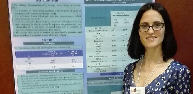La doctora Paula Odriozola representó a UNEATLANTICO en el Congreso Mundial de la ACBS celebrado en Sevilla