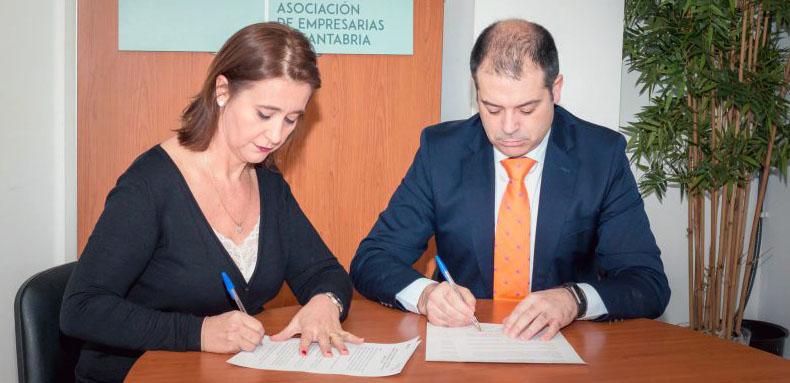 FIDBAN y la Asociación de Mujeres Empresarias de Cantabria firman un convenio de colaboración