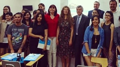 La vicerrectora, Silvia Aparicio, impartió una conferencia en la Escuela Americana de Traductores e Intérpretes de Chile