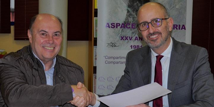 Alumnos del grado en Psicología efectuarán prácticas en Aspace, gracias al convenio firmado con esta asociación
