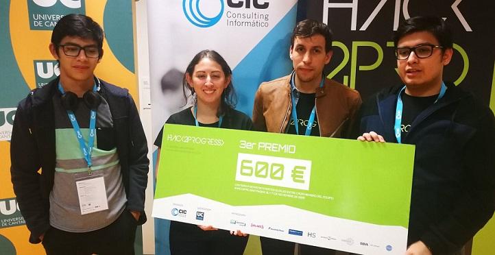 Cuatro estudiantes del grado en Ingeniería Informática obtienen un premio en el concurso Hack2Progress