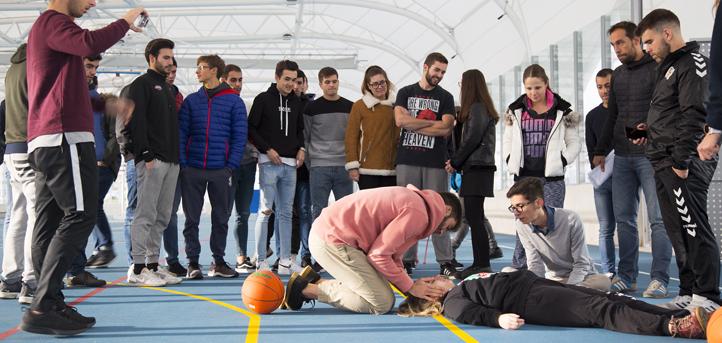 El campus fue escenario de varios simulacros de emergencia, que fueron atendidos por estudiantes de CAFYD