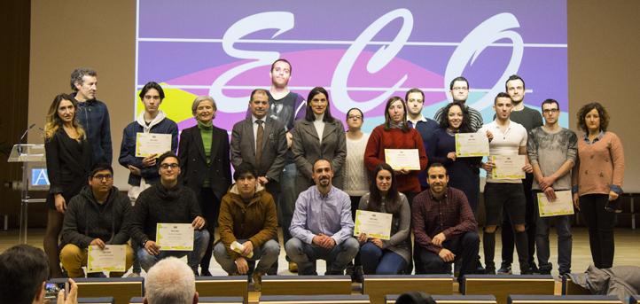 La alcaldesa de Santander, Gema Igual, clausuró el curso de la Escuela de Contenidos Audiovisuales en el campus de UNEATLANTICO
