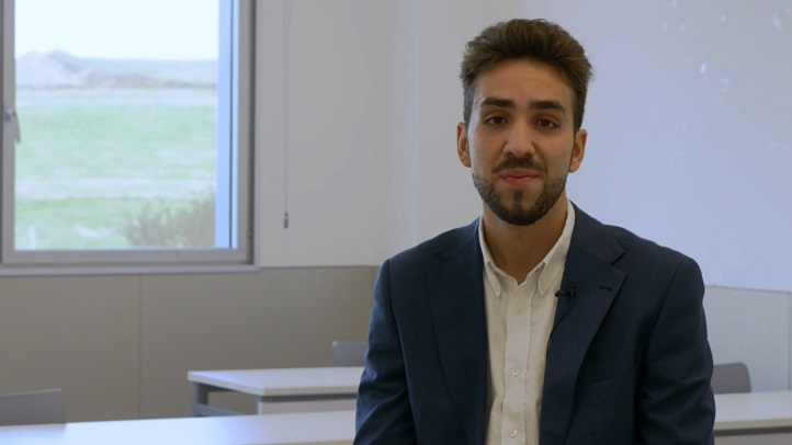 Pedro Santamaría, estudiante de ADE, repite mandato como delegado de alumnos de la Universidad Europea del Atlántico