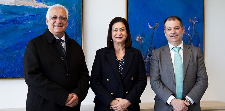 El rector y la vicerrectora de la Universidad de Honduras visitaron el campus y estudiaron áreas de colaboración con UNEATLANTICO