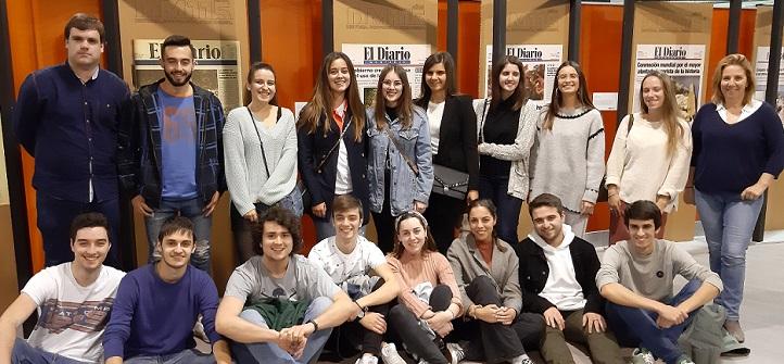Alumnos de tercer curso del grado en Periodismo conocieron de primera mano cómo se edita cada día El Diario Montañés