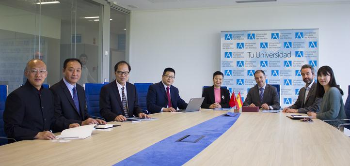 Una delegación de la Guangzhou Sports University visitó el campus y firmó un convenio de colaboración con UNEATLANTICO