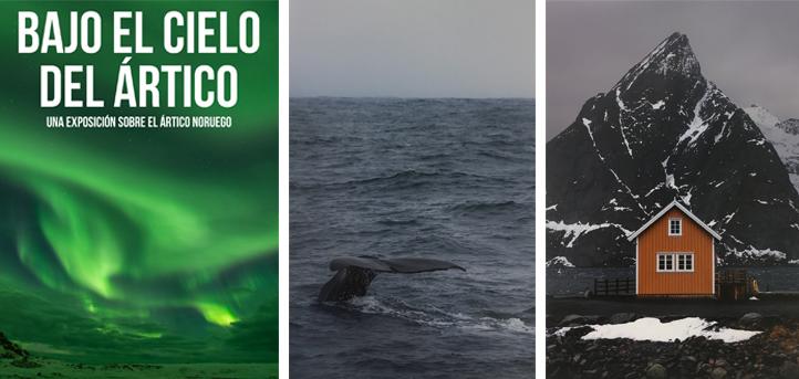 """El alumno Sergio Gómez expone en el campus su colección de fotografías """"Bajo el cielo del ártico"""" tomadas en las Islas Lofoten"""