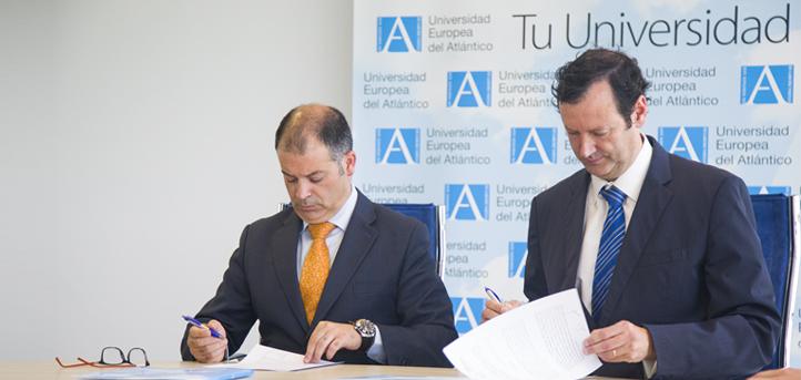 UNEATLANTICO firma un convenio de colaboración con el Colegio Oficial de Licenciados en Educación Física de Cantabria