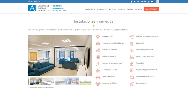 La Residencia UNEATLANTICO estrena página web