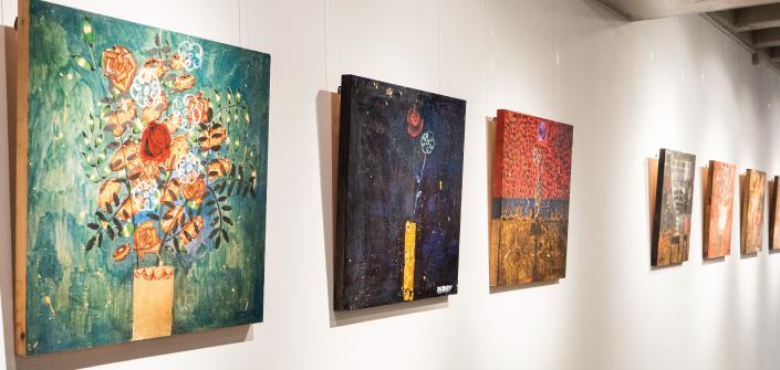 Doble exposición de los artistas Om Barbará, Arcángel Soul y Anna Tamayo