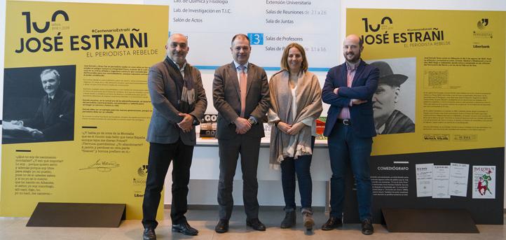 UNEATLANTICO se suma al centenario José Estrañi que conmemora la Asociación de Periodistas de Cantabria