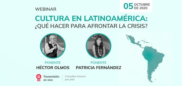 UNEATLANTICO organiza el próximo 5 de octubre el webinar  «Cultura en Latinoamérica: ¿qué hacer para afrontar la crisis?»