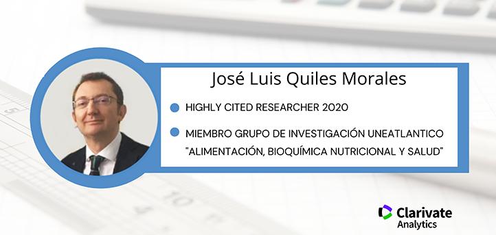 El doctor Quiles, miembro del grupo «Alimentación, Bioquímica Nutricional y Salud», reconocido como investigador altamente citado