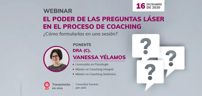 """UNEATLANTICO organiza el webinar """"El poder de las preguntas láser en el proceso de coaching ¿Cómo formularlas en una sesión?"""""""