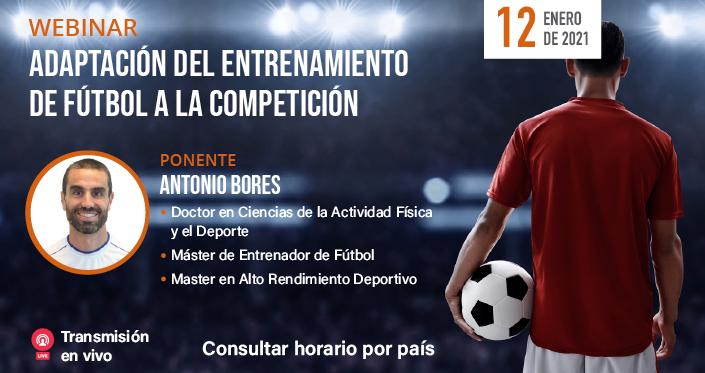 """UNEATLANTICO organiza el próximo 12 de enero el webinar """"Adaptación del entrenamiento de fútbol a la competición"""""""