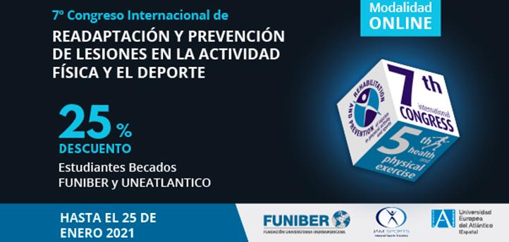 Consulta el programa del  VII Congreso Internacional de Readaptación y Prevención de Lesiones en la Actividad Física y el Deporte que organiza UNEATLANTICO