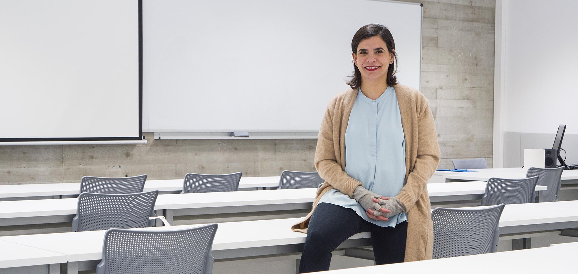 La profesora María Antonieta Azcárate comenta sus impresiones tras impartir la asignatura Producción Audiovisual