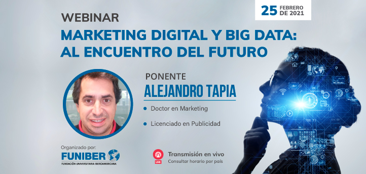 UNEATLANTICO organiza el próximo 25 de febrero el webinar «Marketing Digital y Big Data: Al encuentro del futuro»