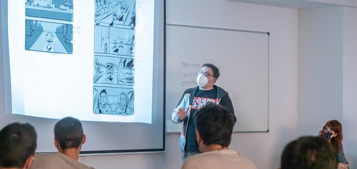 El dibujante de storyboards, Paco Cavero, compartió su experiencia profesional con los alumnos de los grados en Comunicación