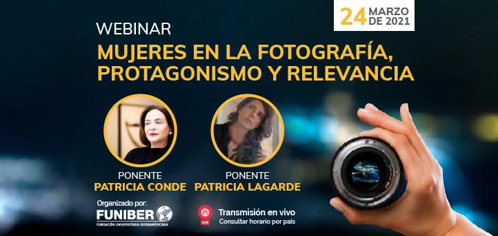 UNEATLANTICO organiza el próximo 24 de marzo el webinar «Mujeres en la fotografía, protagonismo y relevancia»