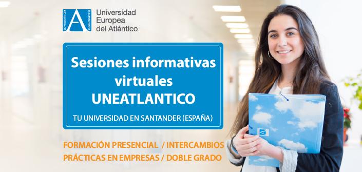 UNEATLANTICO organiza sesiones informativas virtuales sobre las carreras que se pueden estudiar en el campus